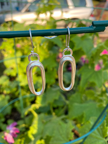 Giant Double Trace Chain Earrings
