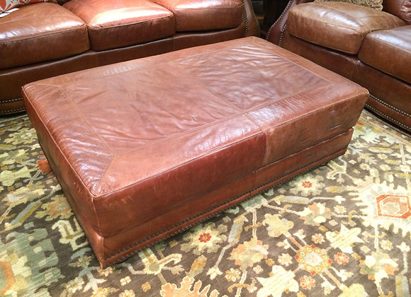 Brandy with Alligator Leather Cocktail Ottoman