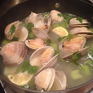 Steamed Littlle Neck Clams.