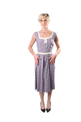 50's Polka-Dot Dress