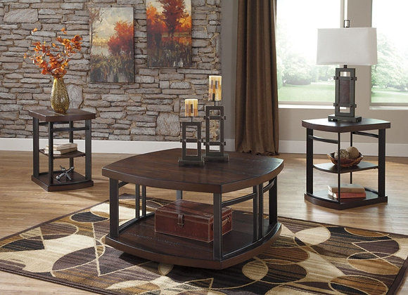 Challiman Rustic Brown Table Set 3pk