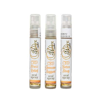 3-Pack CBD Oral Spray - Immune Support