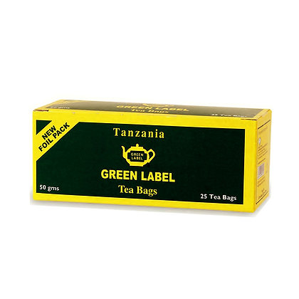 Green Label Tea Bags - 50g (25s)