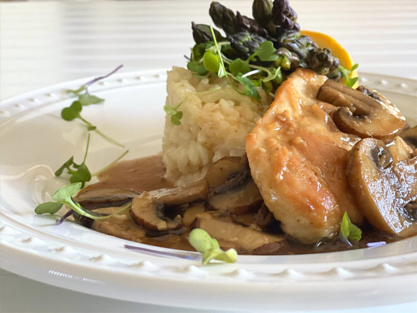 Chicken Marsala with Risotto