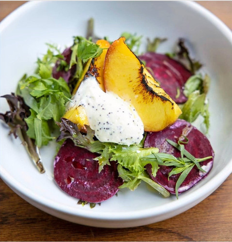 Beet and Peach Salad