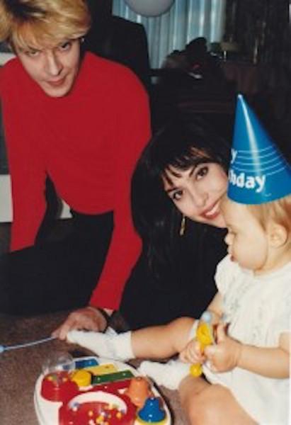 Nick, Julie Anne, & Tatjana Rhodes on her 1st birthday