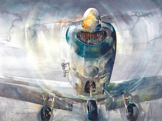 """Original Watercolor by Beth Verheyden - """"1946"""""""