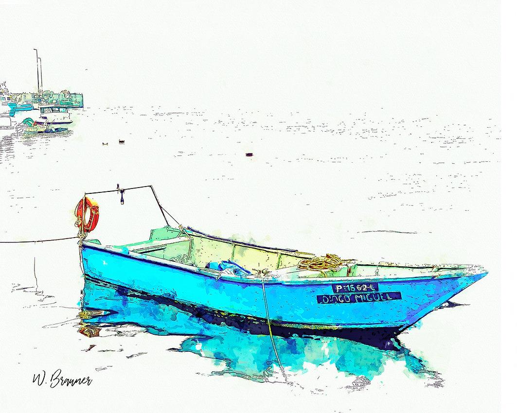 Fishing Boat, Afurada, Portugal watercol