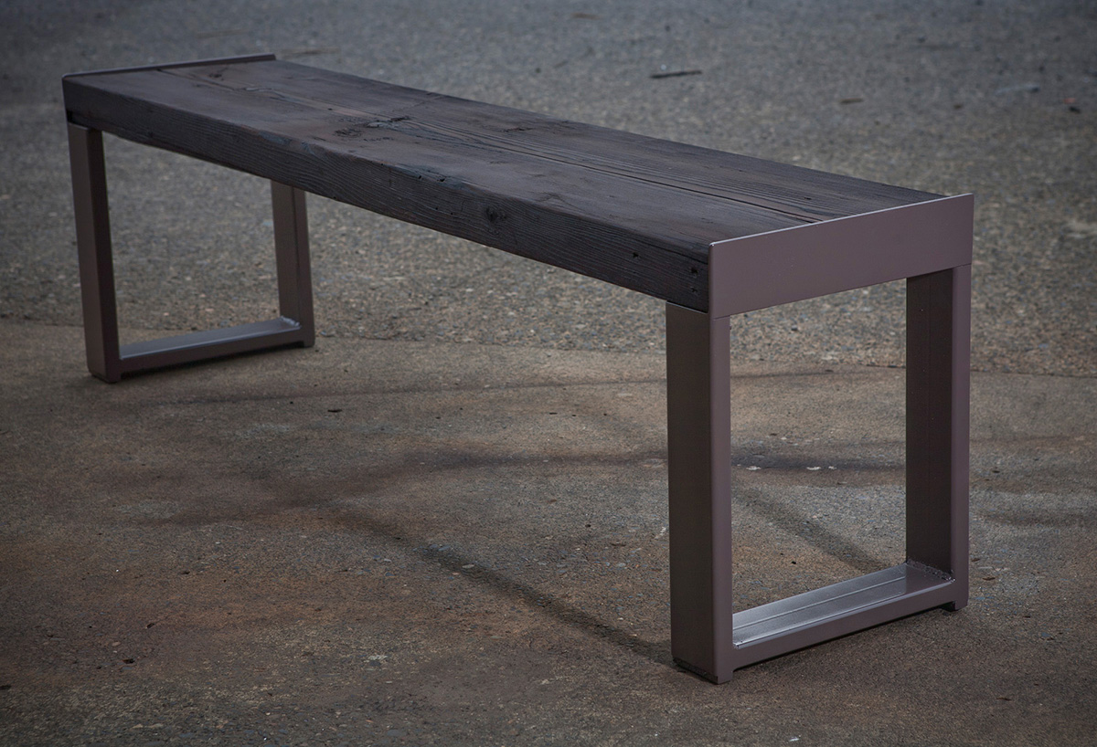 Shou Sugi Ban Bench