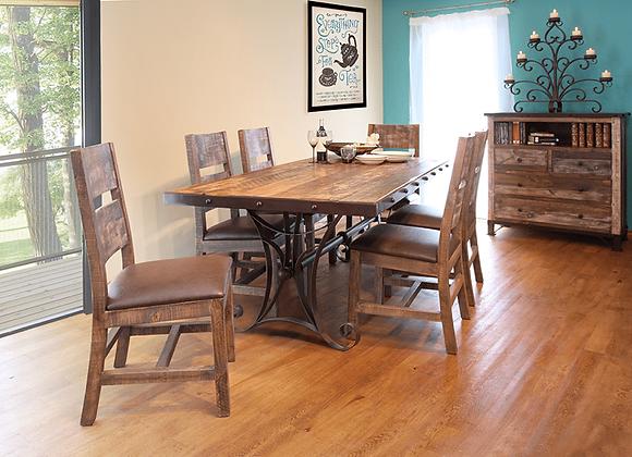 Antique Multicolor Rectangular Table Set