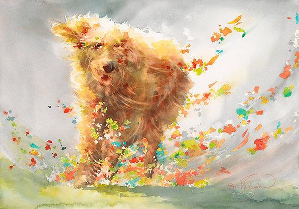 "Original Watercolor by Beth Verheyden - ""Dog Fetti"""