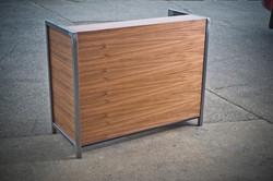 Walnut Reception Desk/Cubicle