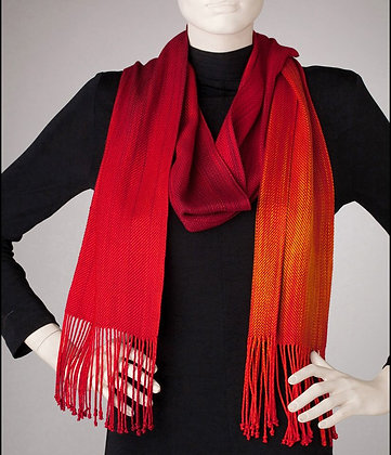 """""""Sunset"""" Scarf in Reds to Gold"""