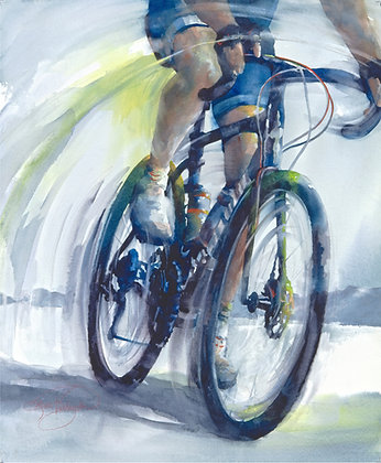 "Original Watercolor by Beth Verheyden - ""Symphony of Movement"""