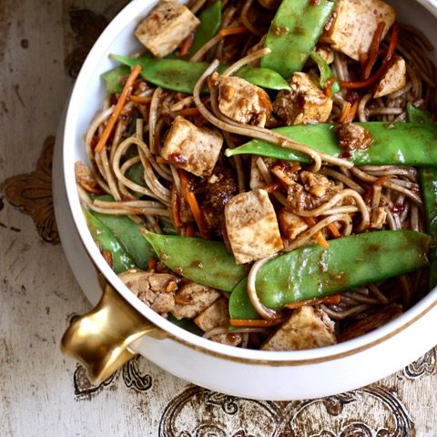 Fusion Snow Pea & Tofu with Soba No