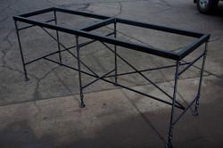 Turned Steel Leg Table Base