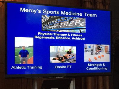 Dr. Purchase Sports Medicine Outreach to Mercy High School Parents