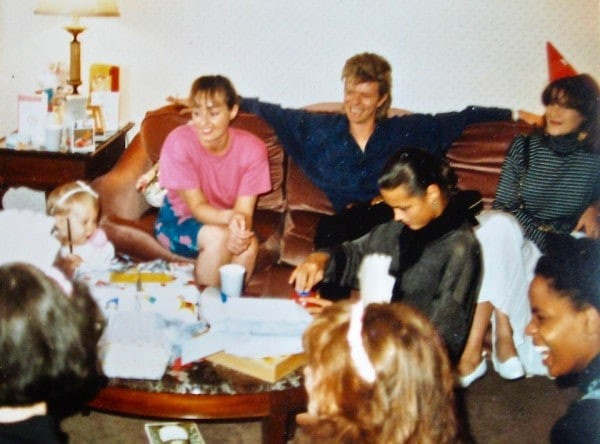 Tatjana Rhodes, your nanny Kim, David Bowie, and Yasmin Lebon