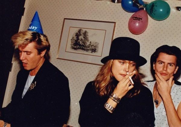 Simon Lebon, Rene Simonsen, and John Taylor at Tatjana's 1st Birthday