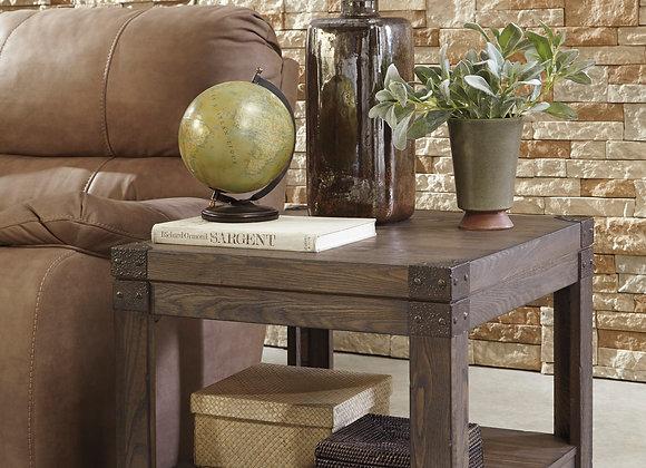 Burladen Rectangular End Table (Grayish Brown)