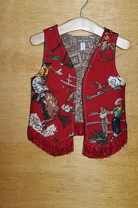 Red Cowboy Print Vest