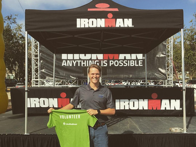Dr. Dan Fay Volunteering at Sports medicine for the Ironman