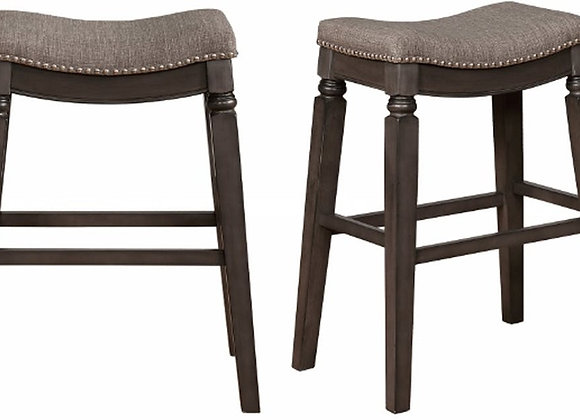 Farlin Grey Bar Height Bar Stool 24""