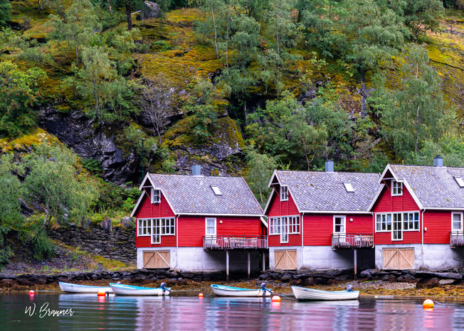 Fishing Village, Flam, Norway