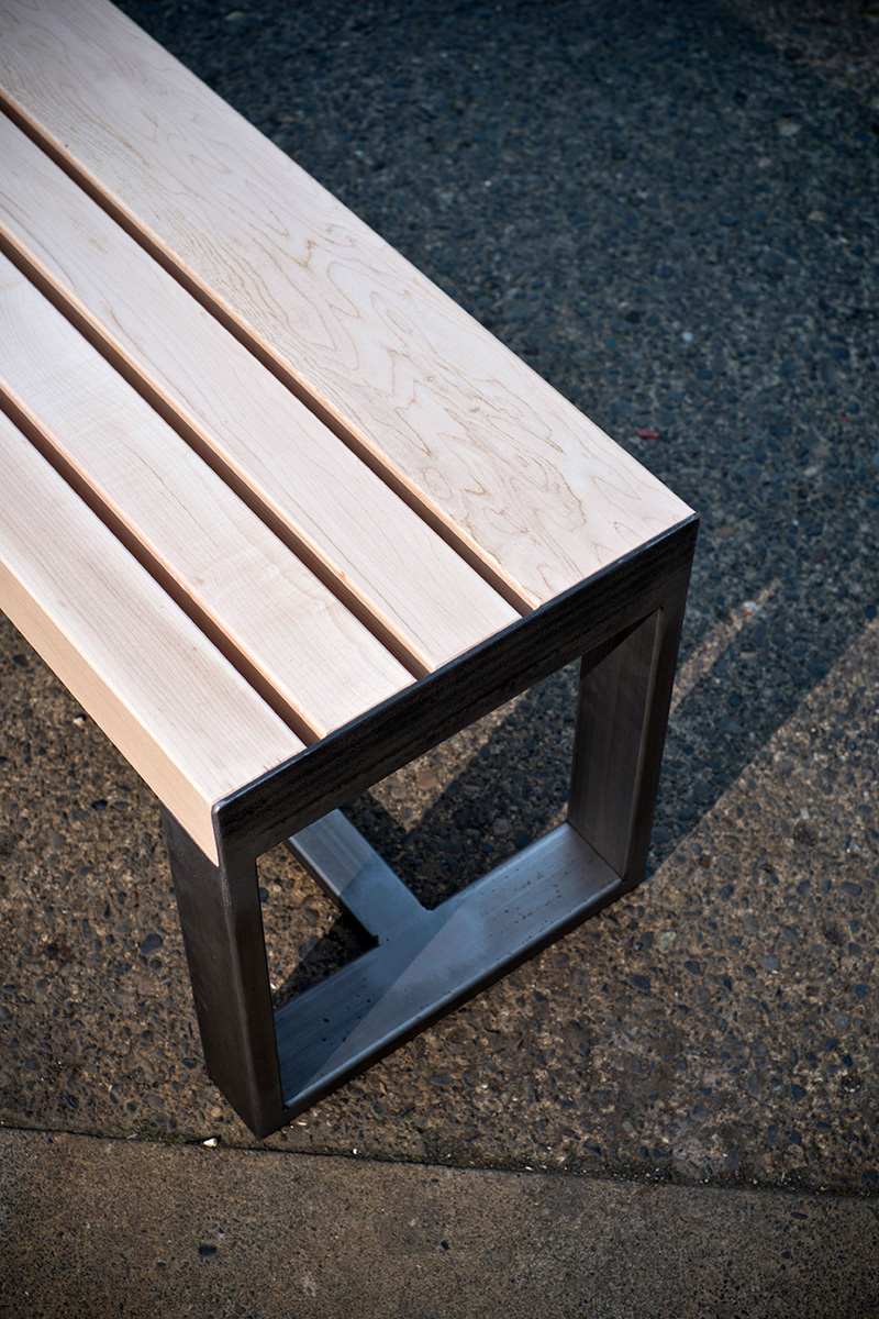 Steel Leg Bench