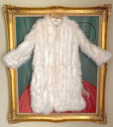 Mother Plucker White Feather '90s Coat