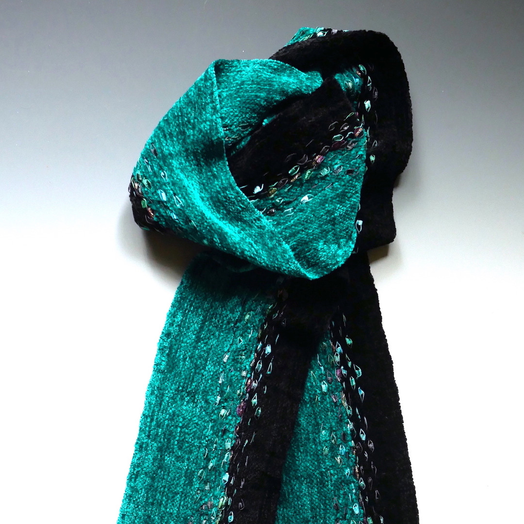 Teal-Black Ribbons