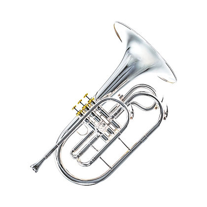 Professional Mellophone, Silver Plate