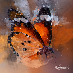 WINGED MONARCH BUTTERFLY-watercolor