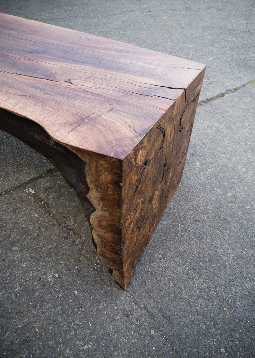 Solid Walnut Live-Edge Table