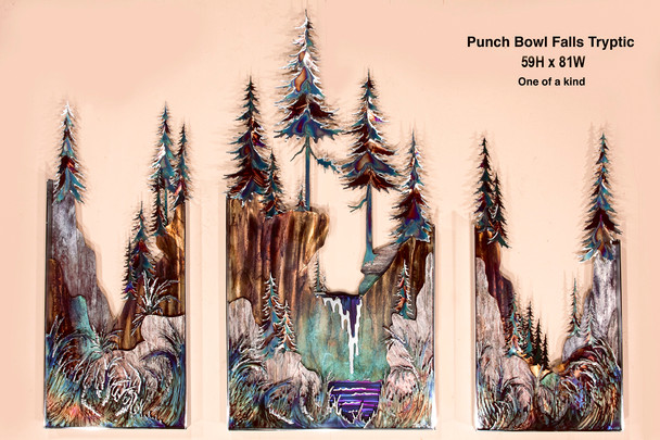 Punch Bowl Falls Tryptic