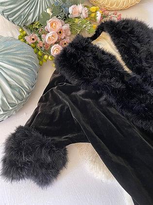 '20s Black Leather Coat