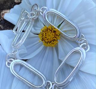 Giant Double Trace Chain Bracelet