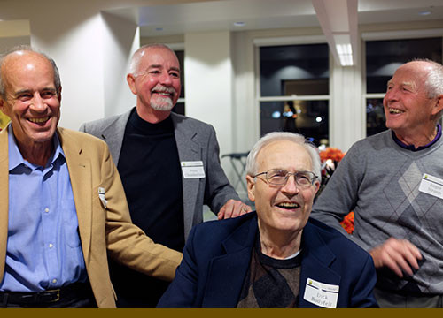 Bodyfelt Mount's founding partners (from left) Barry Mount, Peter Chamberlain, Dick Bodyfelt and Roger Stroup in 2014.