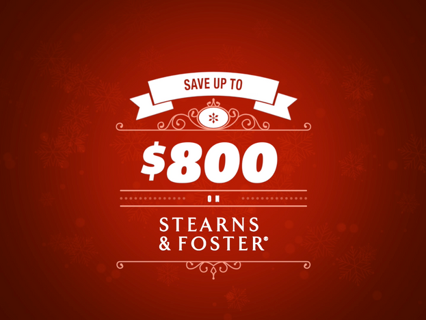 Save up to $800 on Stearns & Foster!