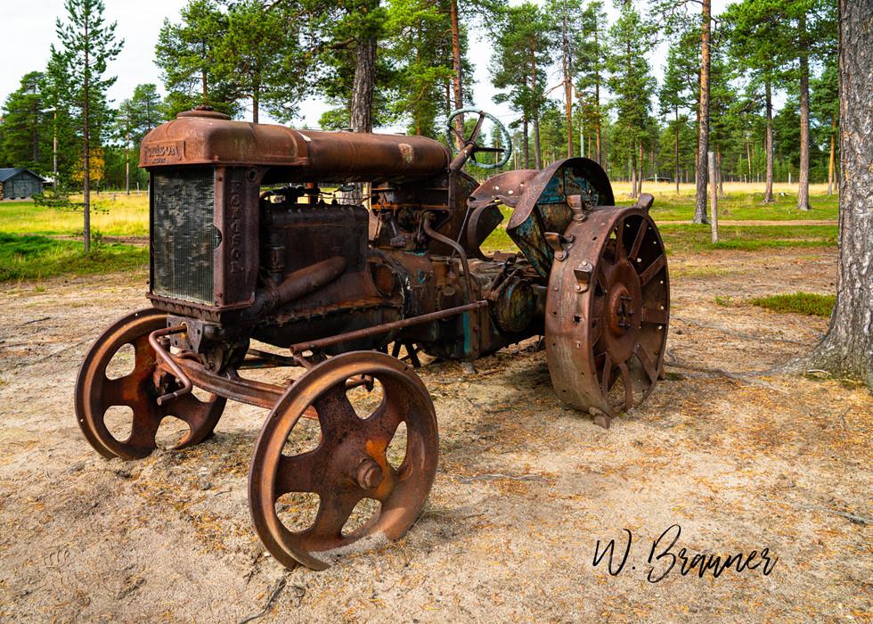 Old Farm Tractor, Sami Ranch, Finland