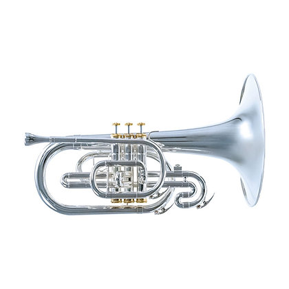 Traditional Mellophone, Silver-plate