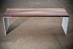 Walnut and White Bench