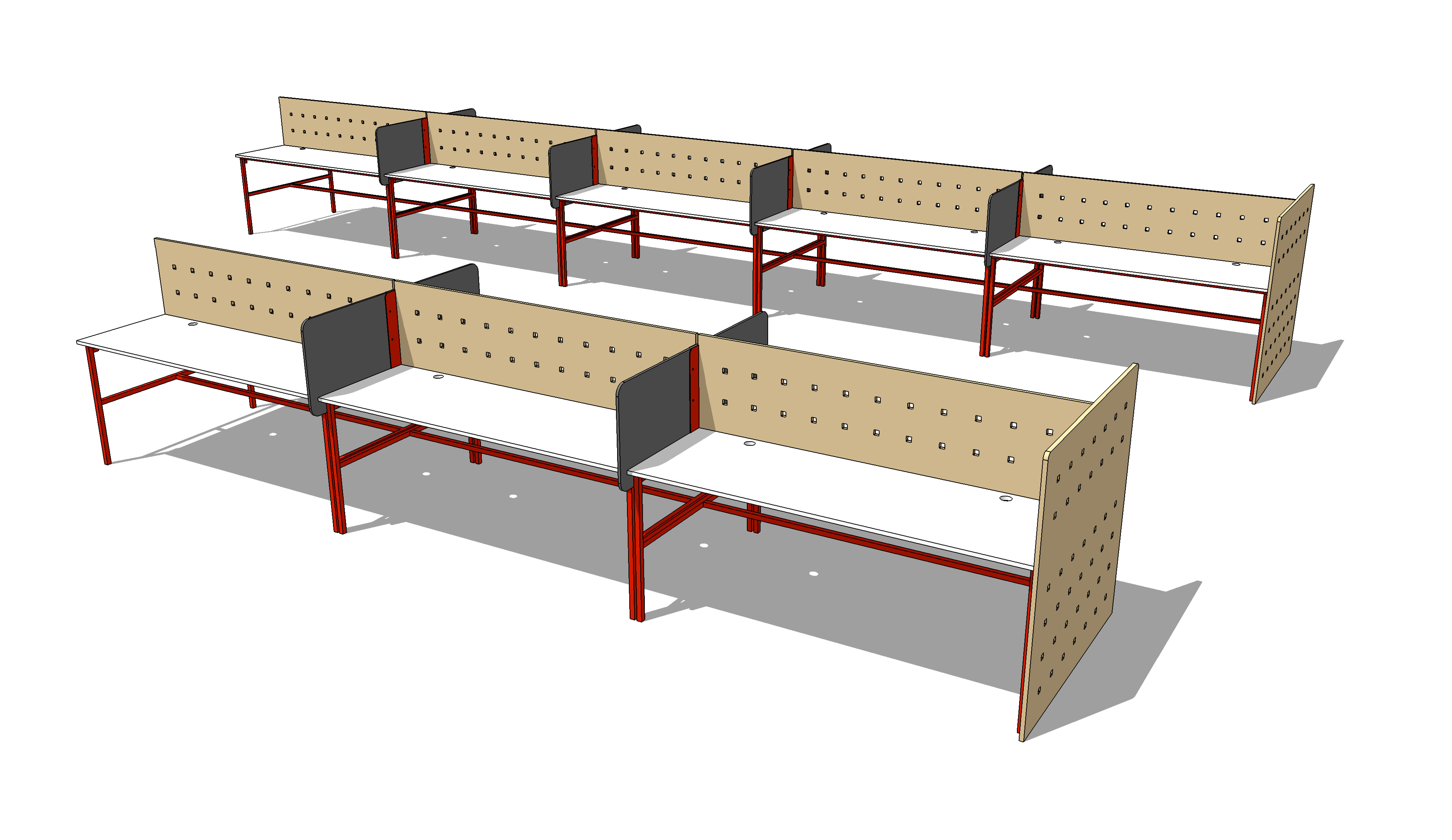 Multi Material Desk System