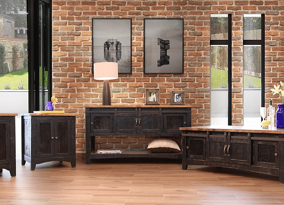 Pueblo Black Occasional Tables (Chairside, End, Sofa, Cocktail Table)