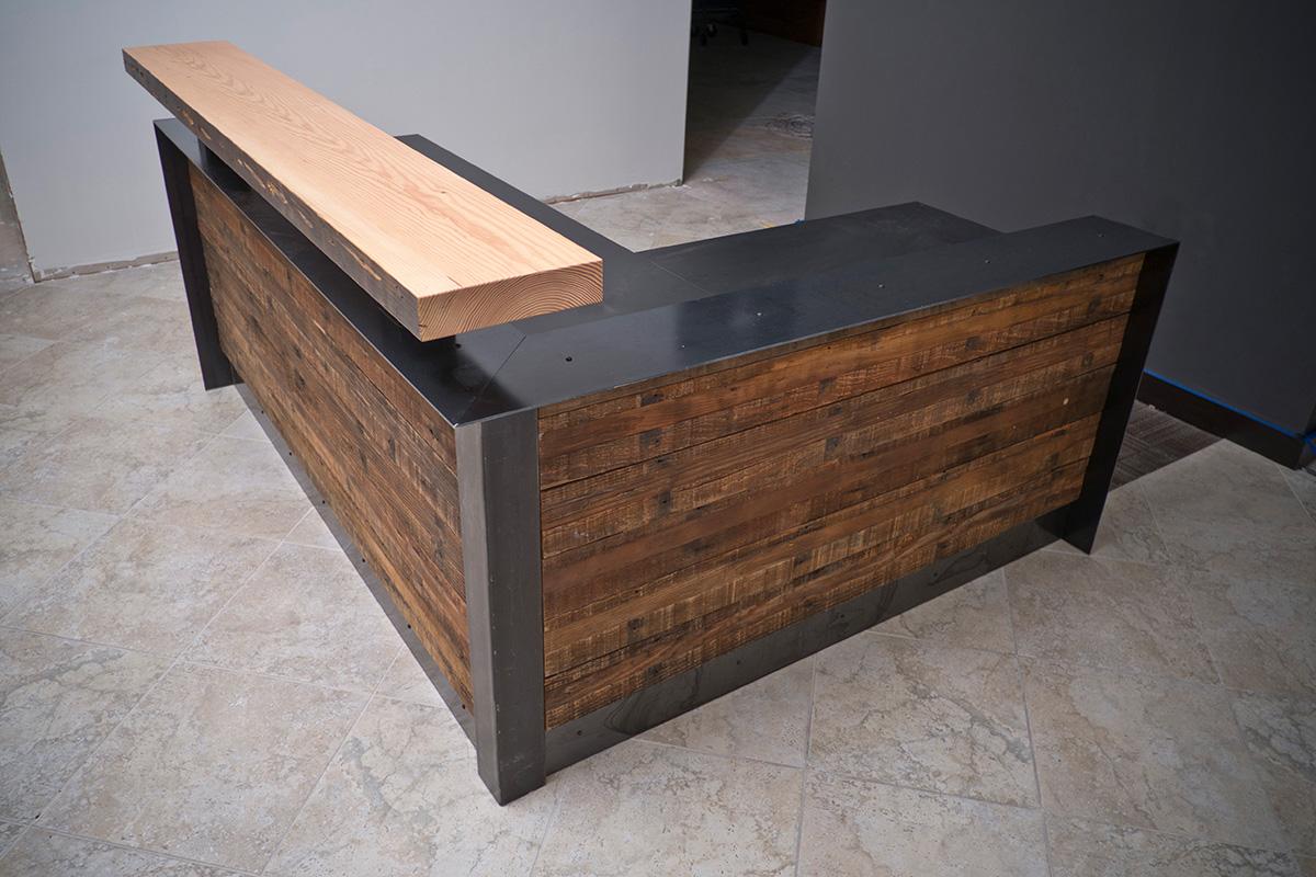 ADA Recalimed Reception Desk