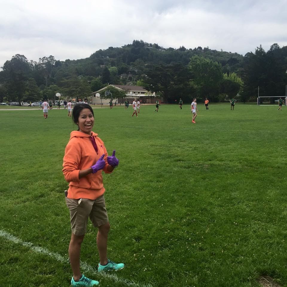 Mallory Celaya On the field Sports Medicine Outreach
