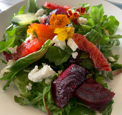 Roasted Beet & Goat Cheese Salad.