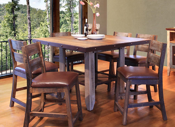 Antique 52 in Counter Height Dining Table