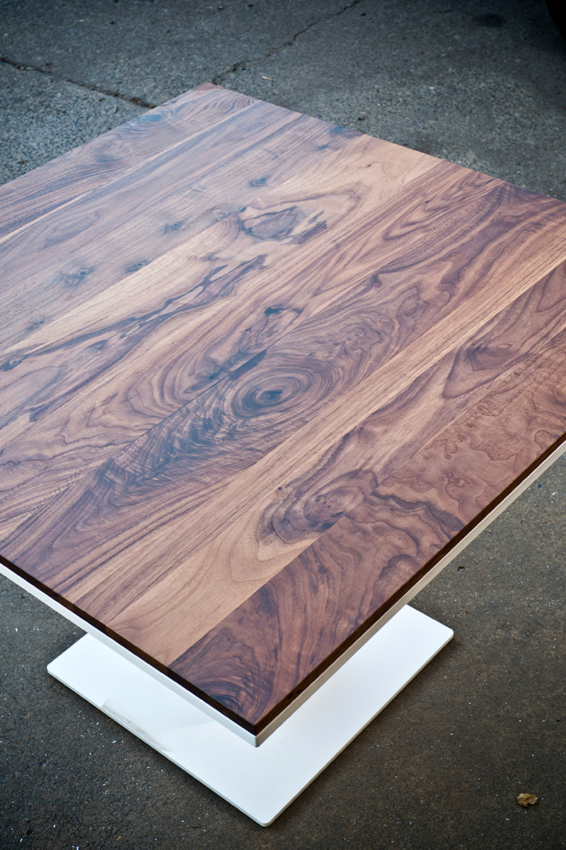 Walnut and White Table