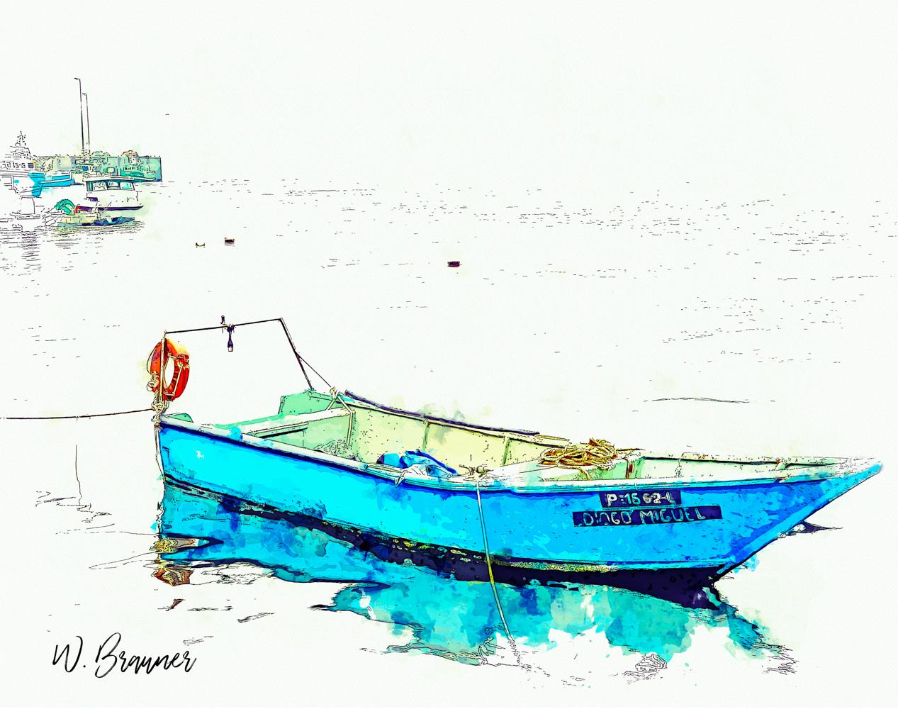 Fishing Boat, Afurada, Portugal